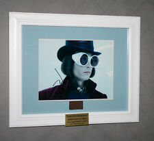 JOHNNY DEPP Signed Wonka, Charlie & Chocolate Factory PROP, DVD, Frame COA, UACC