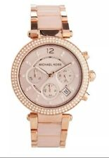 NEW LADIES ROSE GOLD PARKER WATCH MICHAEL KORS MK5896
