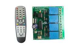 Wireless InfraRed IR Remote Control 4 Channel Board HOME & INDUSTRIAL AUTOMATION