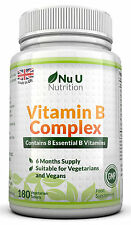 Vitamin B Complex (6 month supply) Contains all Eight B Vitamins in one tablet