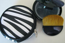 Bare Escentuals BLACK COMPACT WITH ZEBRA PRINT CASE