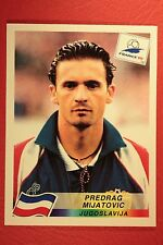 PANINI WC WM FRANCE 98 1998 N. 404 JUGOSLAVIA MIJATOVIC WITH BLACK BACK MINT!!
