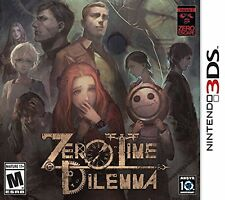 Zero Time Dilemma [Nintendo 3DS, Sequel to 999 & Zero Escape, VN Suspense] NEW