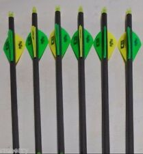 6-Gold Tip Velocity XT 400 5575 Carbon Arrows w/ Blazer Vanes! CUT TO LENGTH