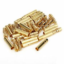 20 Pair 4.0MM 4mm Gold Connector Plug with Banana Bullet RC Male Female Plug GT2