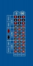 "Professional Roulette Table Felt Cloth Blue - LYT-RT 118""x67"""