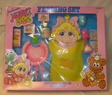 VINTAGE MUPPETS BABIES DOLL FEEDING SET KERMIT PIGGY HG TOYS PLAY SET MIB RARE!