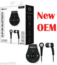 Noisehush Clip on Bluetooth Hands Free Wireless Music &Calls NS560 Headset Black