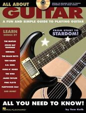 All About Guitar Learn to Play BEGINNER EASY LESSON INSTRUCTION Music Book & CD
