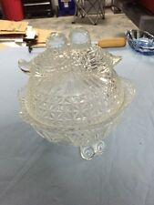 Vintage Glass Candy Dish With Birds
