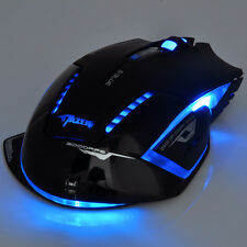 New E-3lue Blue 2.4GHz 2500 DPI LED Wireless Optical Gaming Game Mouse Mice US