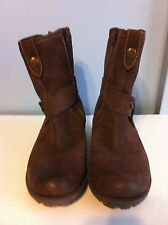 Cobb Hill Brown Leather Ankle Boots by New Balance Side Zipper Women 8M