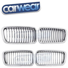 BMW E38 7-SERIES 95-01 CHROME KIDNEY GRILL / GRILLE 730iL 735iL 740iL 750iL