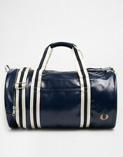Fred Perry Men's Navy Barrel Bag 100% Authentic