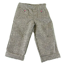 JACADI Girl's Appel Dark Grey/ Natural Tweed Trouser Pants Age: 3 Years NWT $63