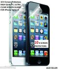 HIGH QUALITY iPhone 5 5S 5C Ultra Clear Screen Protector x10 + CLEANING CLOTHES