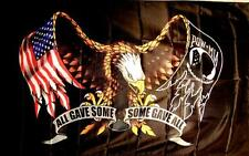 DELUXE BIKER FLAG EAGLE POW FL355 eagles military flags 3 x 5 mia 3x5 bike item