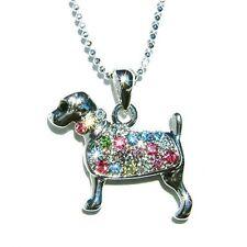 Rainbow w Swarovski Crystal ROTTWEILER DOG Pet Animal Charm Pendant Necklace NEW