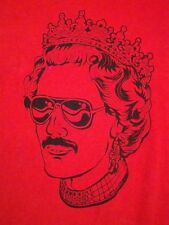 Punk Rock God Save Shave The Queen Mustasche British comedy England T Shirt S