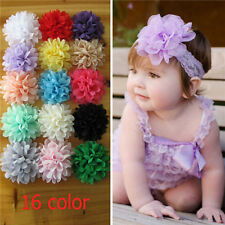 Chiffon Flower for DIY Baby Girl Hairband Headband Lovely Hair Accessories 10pcs