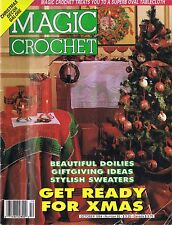 Christmas Crochet Patterns Tablecloths Runners Doilies Sweaters Magic Crochet 92