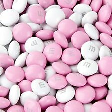M&Ms Light Pink & White Milk Chocolate Candy 1LB Bag