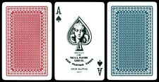 KEM CASINO PLAYING CARDS RED BLUE NARROW BRIDGE SIZE REGULAR INDEX 2 DECK SET