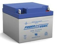 BATTERY POWER-SONIC PS-12260 12V 26AH VRLA NUT AND BOLT TERMINAL EACH