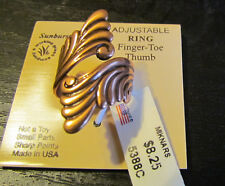 Solid Copper Adjustable Scroll Design Spoon  Ring NWT  5388C