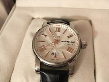 Men's watch Montblanc star collection 42-silver automatic guilloche dial 105858