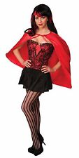 Womens Superhero Cape Short Neck Tied Super Hero 26in Long Adult Costume NEW