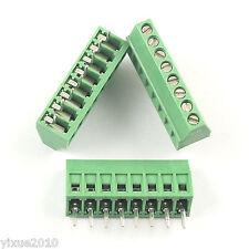 "50Pcs 2.54mm 0.1"" Universal 8 Pin8 Poles PCB Screw Terminal Block Connector"