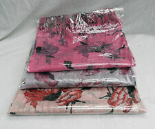 Fringed Silver Stranded Floral Cotton Scarf - BNIB - Cerise, Pink or Lilac