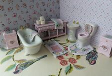 dolls house furniture shabby chic 1:12th scale beautiful bathroom
