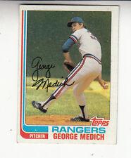 1982 TOPPS BASEBALL #78 GEORGE MEDICH TEXAS RANGERS  - NM/MT(A03)