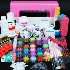 9W UV Pink UV Lamp Dryer Acrylic Powder UV Gel Primer Base Top Coat Nail Art Kit