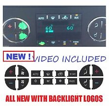 CHEVROLET A/C BUTTON DECALS STICKERS TAHOE YUKON TRUCKS SUVS CHEVY