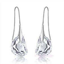 fashion jewelry clear swarovski crystal earring dangle lady wedding earring E687