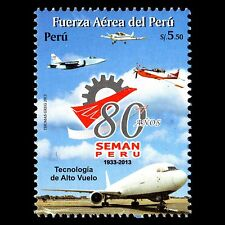 Peru 2013 - 80th Anniv of SEMAN Peru Aviation Aircraft - Sc 1811 MNH