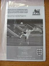 11/05/2007 English Schools U18 Inter County Trophy Final: Northumberland Schools