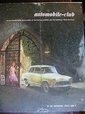 REVUE AUTOMOBILE CLUB N°39 SEPT OCT 1959 SALON ALSACE BOURGOGNE AUTOMATION