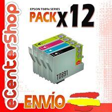 12 Cartuchos T0891 T0892 T0893 T0894 NON-OEM Epson Stylus SX105