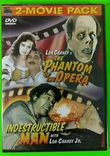 2-Movie Pack: The Phantom of the Opera/Indestructable Man DVD Brand New Sealed