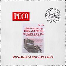 PECO SL-10 GIUNZIONI METALLICHE PER BINARI codice 100 (24 pezzi)