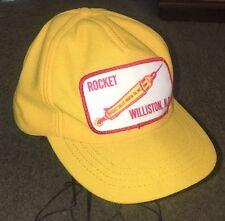 Vintage 1980 Williston, ND Rocket Sales Rental Co Inc Trucker's HAT Cap USA NWOT