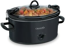 Crock Pot Cook And Carry 6 Quart Black Oval Slow Cooker Programmable Manual Cook