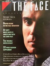 THE FACE October 1986 DAVID BYRNE Tina Turner  MILES DAVIS Naomi Campbell