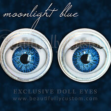 """Moonlight Blue Doll Eyes - Custom 18"""" American Girl Size Replacement Parts ©BC"""