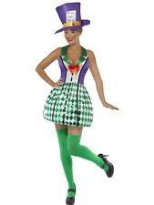 ADULT WOMENS LADY MAD HATTER COSTUME ALICE IN WONDERLAND HALLOWEEN - SMALL