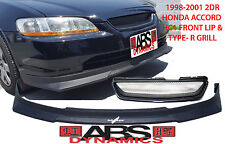 FIT 1998-01 COUPE HONDA ACCORD HC1 STYLE FRONT LIP AND TYPE-R GRILL COMBO